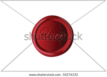 Digital Drawing of a wax seal