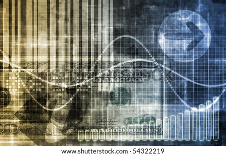 Digital Economy Abstract Business Concept Wallpaper Background