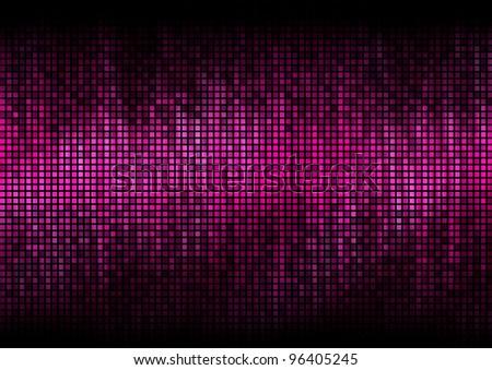 Digital equalizer color pixels amplitude level display disco effect - stock photo