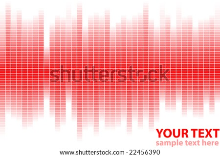 digital equalizer in red colors. This illustration in vector - in my portfolio.