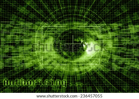 Digital Eye , Abstract Background - stock photo