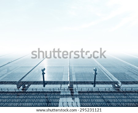 Digital Facade - stock photo