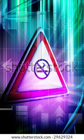 Digital footage of symbol no smoking symbol - stock photo
