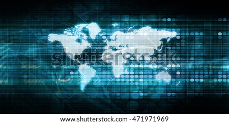 Digital Global Technology Concept Abstract Background