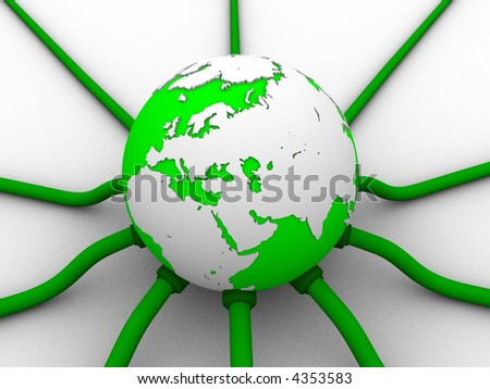 digital globe - stock photo