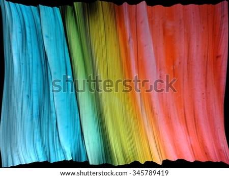 digital graphic:  rainbow drape - stock photo