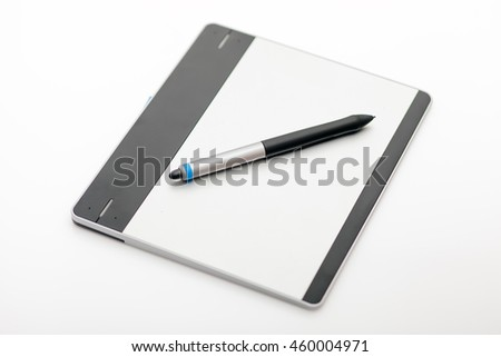 Digital graphic tablet and pen