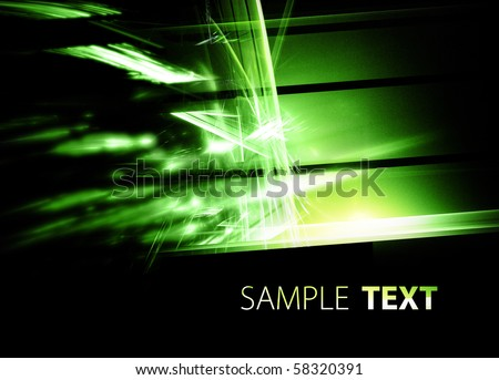 Digital green background - stock photo