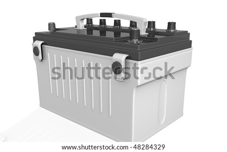 Digital illustration of a battery range in isolated background - stock photo