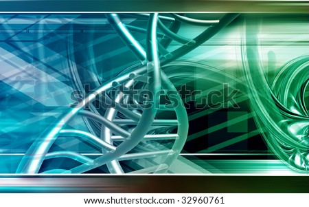 Digital illustration of a  DNA - stock photo