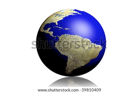 Digital illustration of  a earth in isolated background