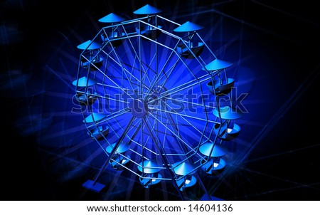 digital illustration of a giant wheel - stock photo