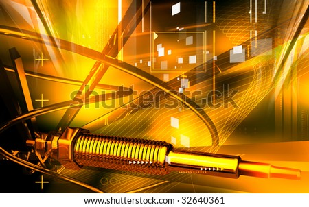 Digital illustration of a heater plug using in engines