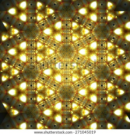 Digital Illustration of a kaleidoscopic Pattern - stock photo