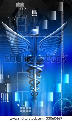 Digital illustration of a medical symbol in black colour - stock photo