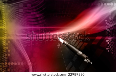 Digital illustration of  a rocket launching
