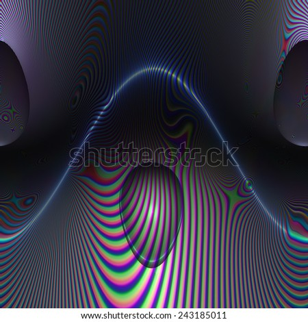 Digital Illustration of a surreal abstract Structure - stock photo