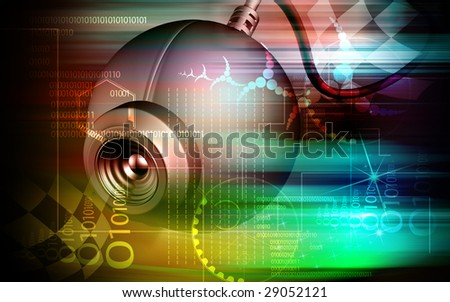 Digital illustration of a web camera	 - stock photo