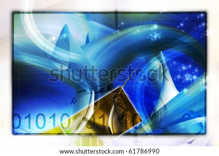 Digital illustration of abstract color background - stock photo
