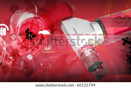 Digital illustration of air nibbler in colour background