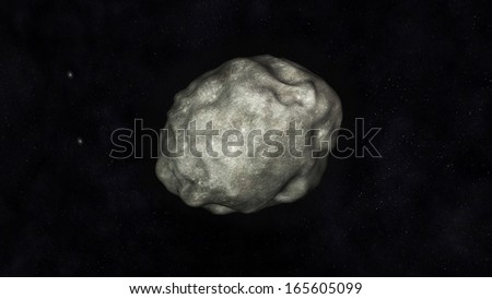 Digital Illustration of an Asteroid