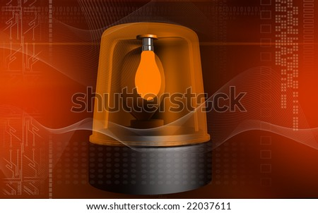 Digital illustration of an emergency alarm lamp	 - stock photo