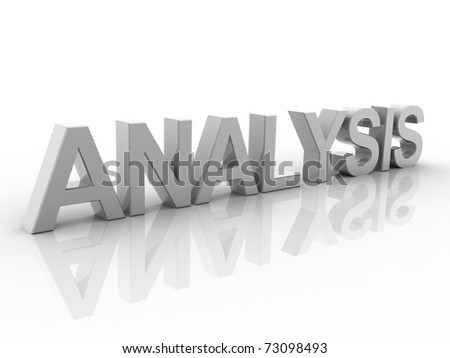 Digital illustration of analysis in 3d on white background - stock photo