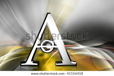 Digital illustration of atheist  symbol in colour background