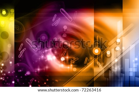 Digital illustration of bacteria in 3d on digital background	 - stock photo
