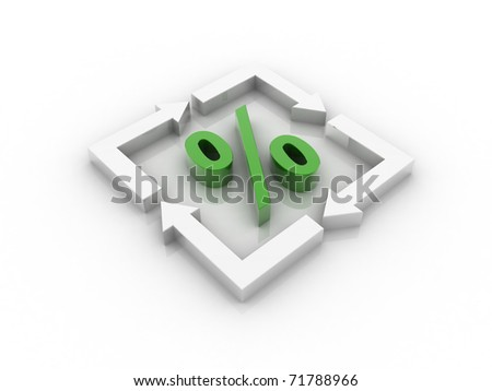 Digital illustration of Business  in 3d - stock photo