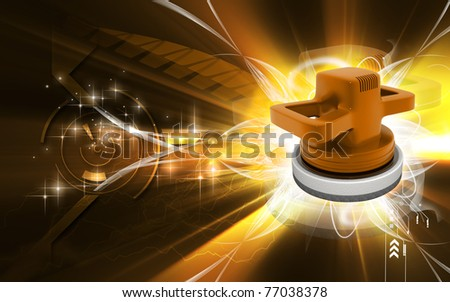 Digital illustration of Car polisher in colour background - stock photo