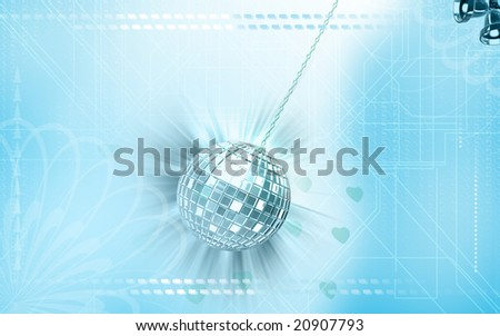 Digital illustration of Celebration ball with colour