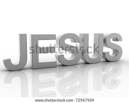 Digital illustration of Christian in 3d on white background	 - stock photo