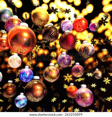Digital Illustration of Christmas Decoration - stock photo