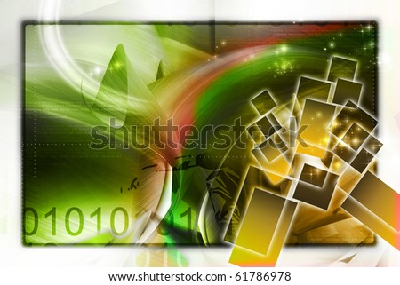 Digital illustration of color background - stock photo