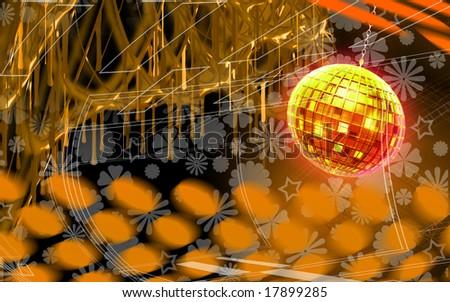 Digital illustration of digital background - stock photo