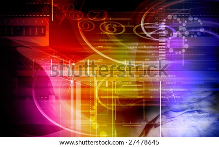 Digital illustration of digital background