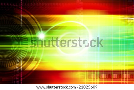 Digital illustration of digital colour background