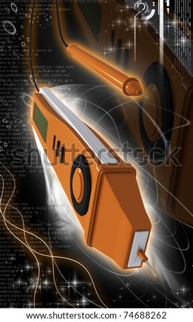 Digital illustration of digital multi mater  in colour background