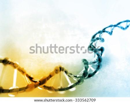 Digital illustration of dna - stock photo
