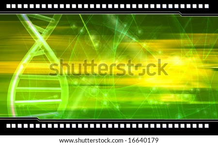 Digital illustration of DNA background - stock photo