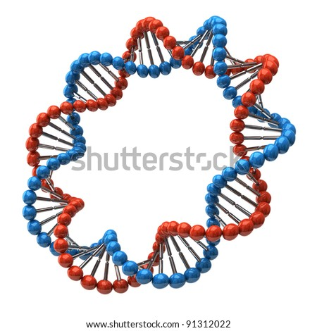Digital illustration of dna isolated on white background stock photo