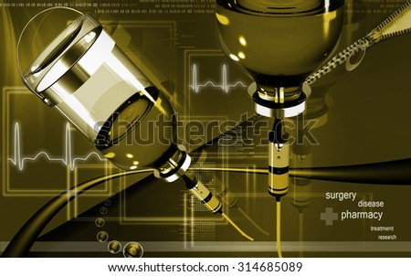 Digital illustration of drip in colour background - stock photo