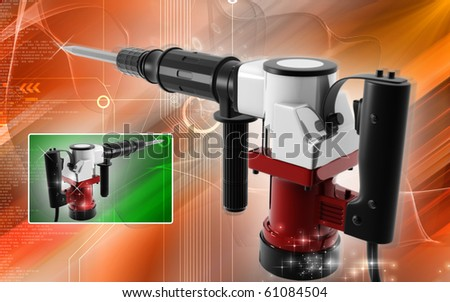 Digital illustration of electric breaker in colour background