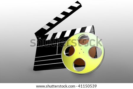 Digital illustration of   film in   isolated background