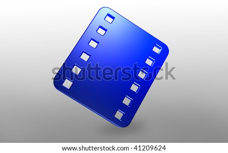Digital illustration of Film symbol in isolated  background