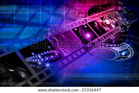Digital Illustration of Film with colour