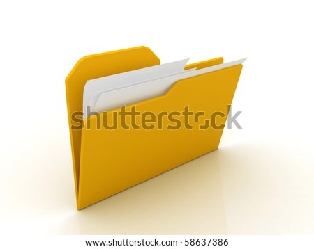 digital illustration of folder in isolated background