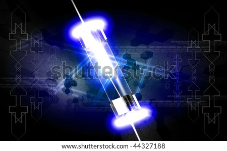 Digital illustration of fuse in colour background - stock photo