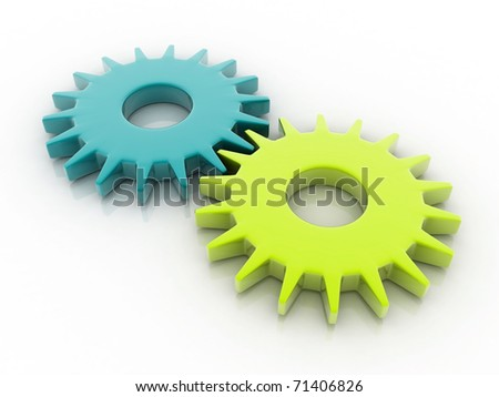 Digital illustration of Gear in 3d	 - stock photo